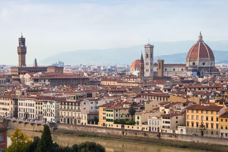 在老镇上看法在佛罗伦萨 免版税库存照片