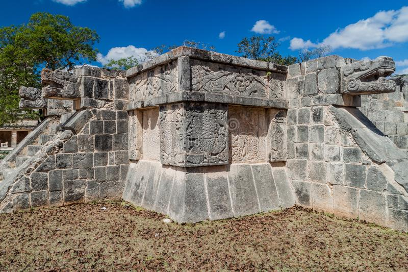 在考古学站点奇琴伊察,Mexi的金星平台 库存照片