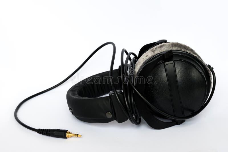 在耳朵耳机 图库摄影