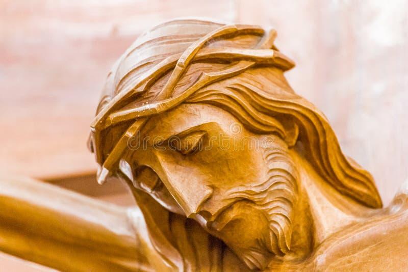 在耶稣基督在十字架上钉死的刺  免版税图库摄影