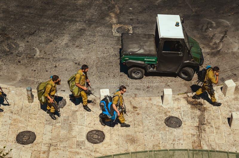 在耶路撒冷的步行 免版税库存照片