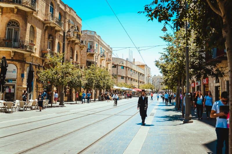 在耶路撒冷的Photoshot步行 免版税库存图片