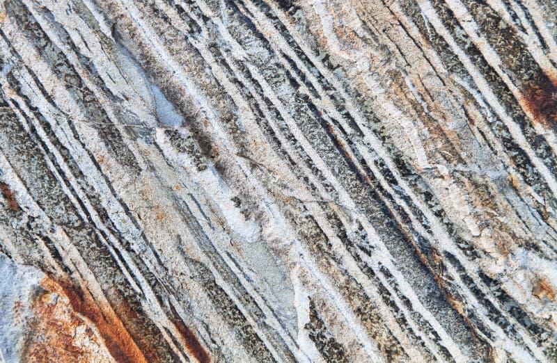 在耽溺于山的层状岩石, NE俄勒冈,美国 库存照片