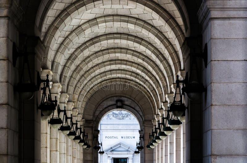 在联合驻地的曲拱,在华盛顿特区, 库存照片