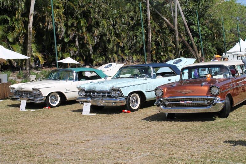 在联盟的经典美国汽车 免版税图库摄影