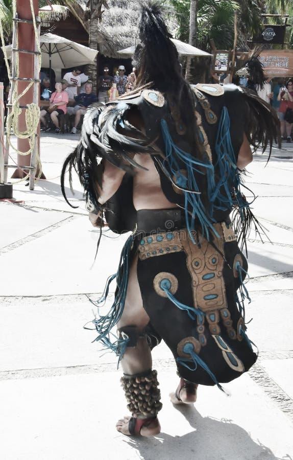 在肋前缘玛雅人Mexicio 3的玛雅Indianer 免版税库存图片