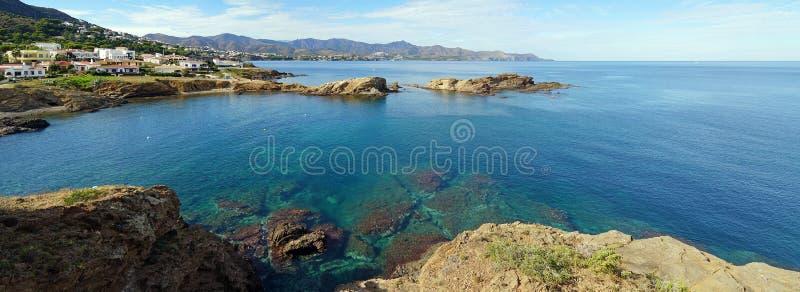 在肋前缘Brava和其大海的全景 免版税图库摄影