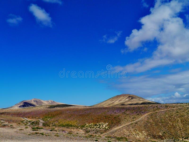 在肋前缘Calma附近的火山的沙漠 免版税库存图片