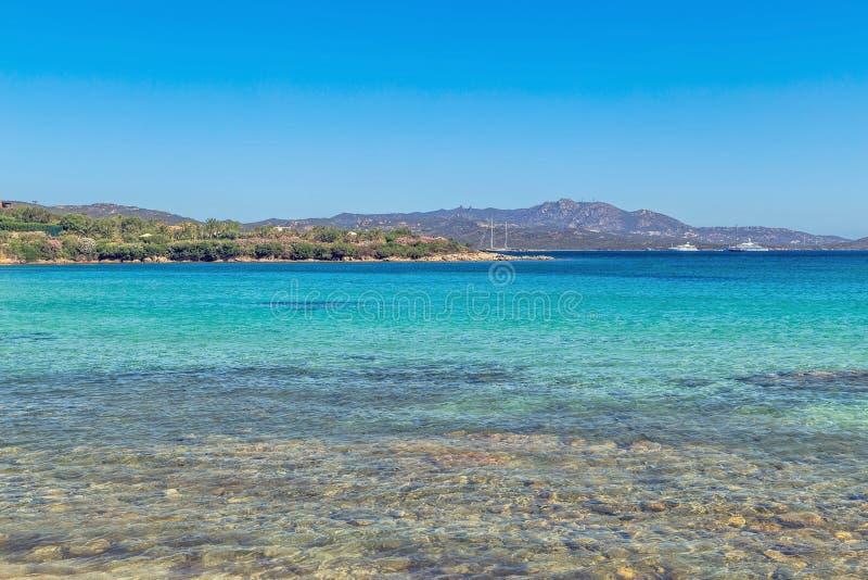 在肋前缘Smeralda的海滩 库存照片