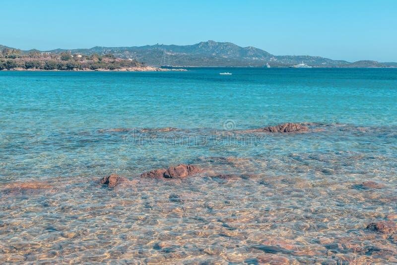 在肋前缘Smeralda的海滩 库存图片