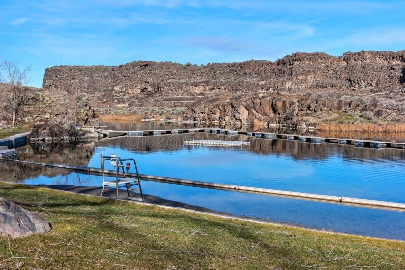 在肖松尼人秋天附近的Dierkes湖,爱达荷 库存图片