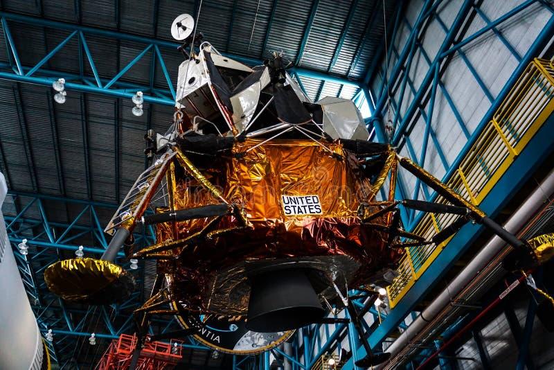 在肯尼迪航天中心的空间登月舱 免版税库存图片