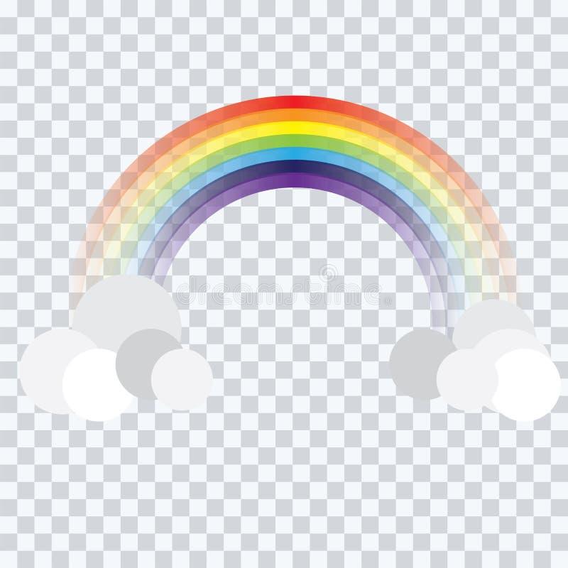 在背景传染媒介的抽象彩虹动画片 库存例证