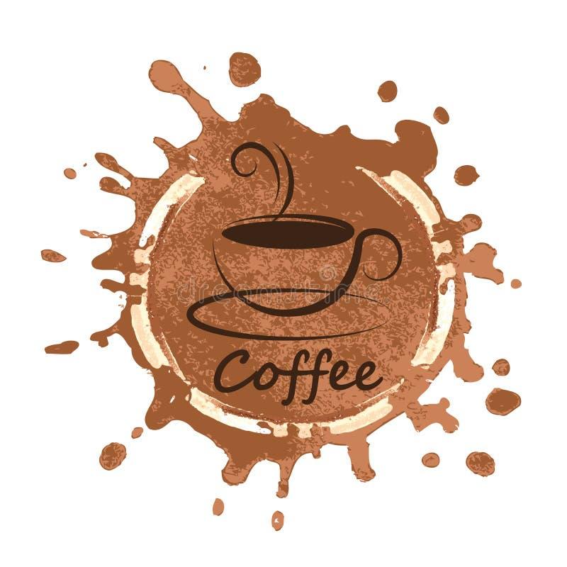 在背景传染媒介例证的咖啡设计 向量例证