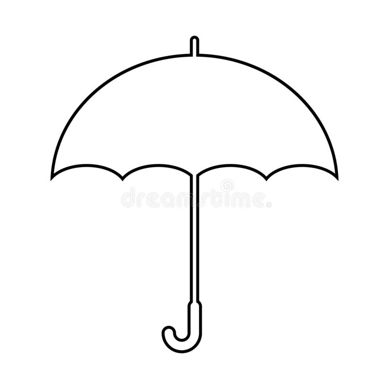 在背景在时髦平的样式的伞象隔绝的 伞象您的网站设计伞象商标的页标志, 库存例证