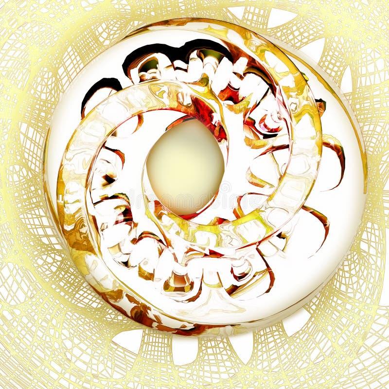 在背景栅格的明亮的抽象形式 抽象背景 皇族释放例证