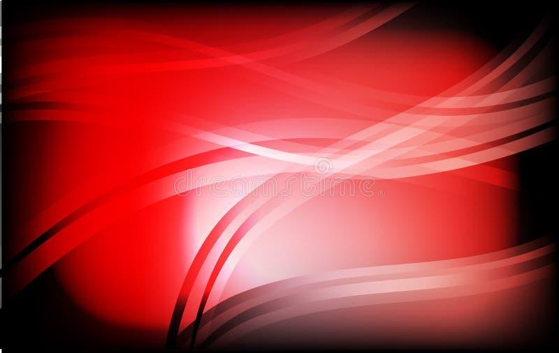 在背景现代设计的红色和黑几何摘要与拷贝空间 库存例证