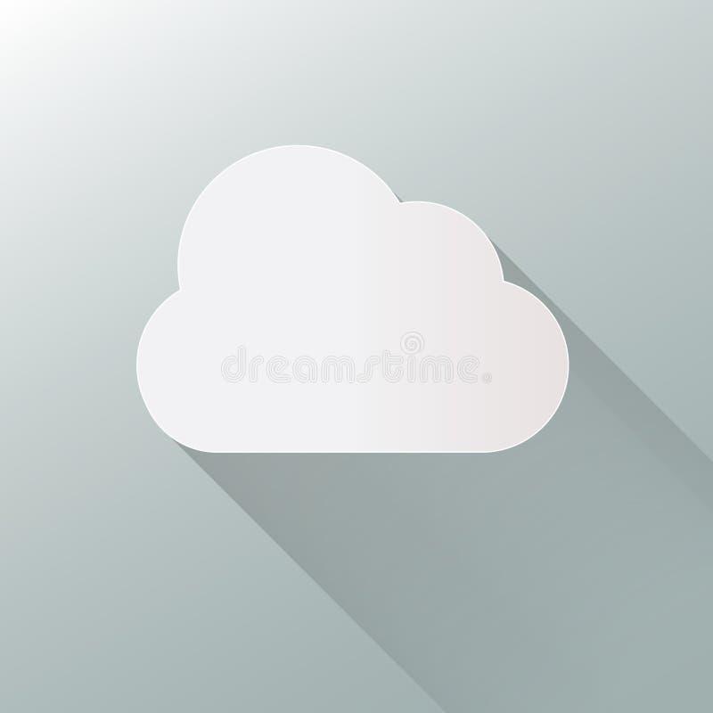 在背景的云彩象 云彩平的例证传染媒介 EPS10格式 库存例证