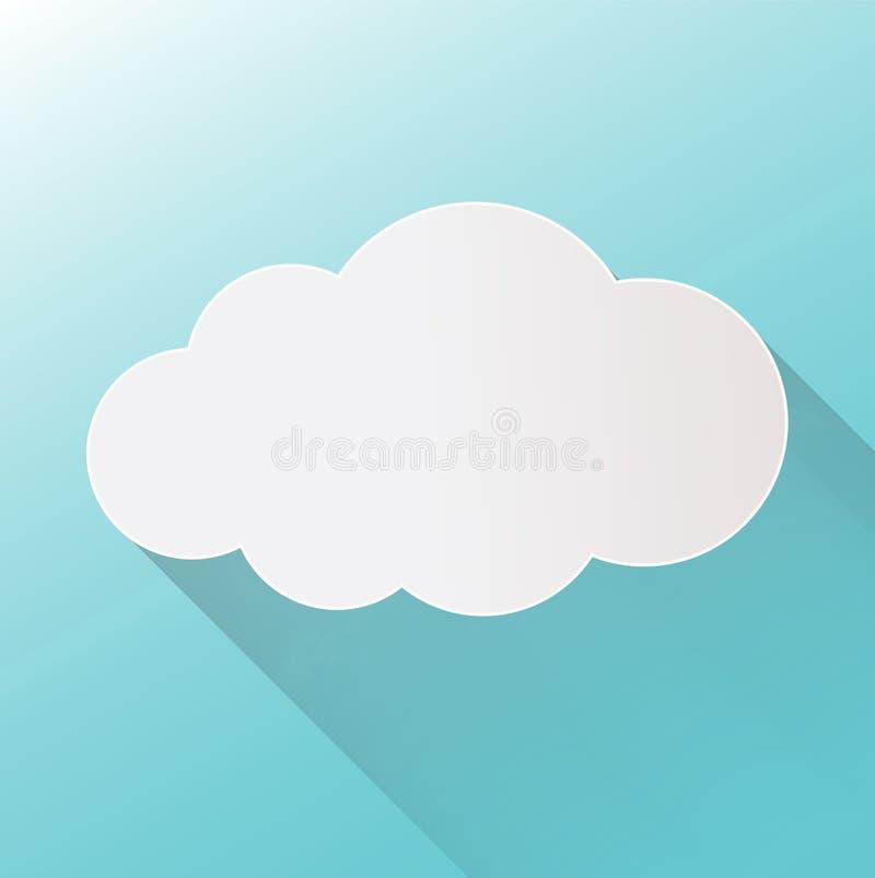 在背景的云彩象 云彩平的例证vecto 皇族释放例证