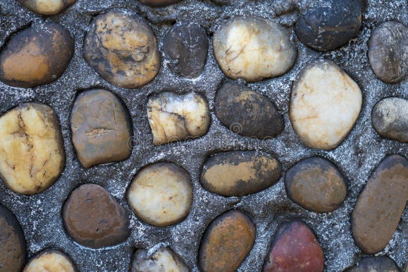 在背景的布朗石头 免版税图库摄影