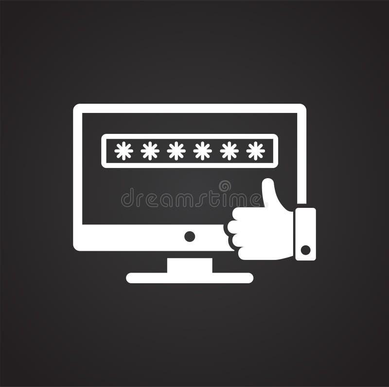 在背景的数据保密象图表和网络设计的 简单的传染媒介标志 互联网网站的概念标志 向量例证