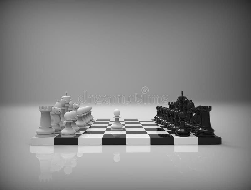 在背景的棋 库存例证