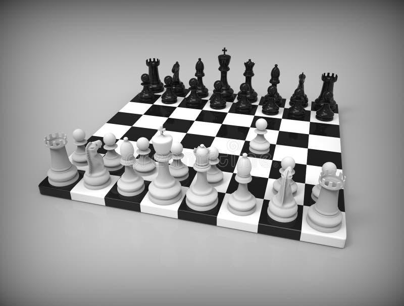 在背景的棋 向量例证