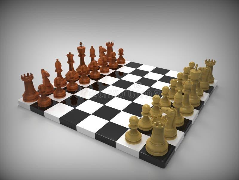 在背景的棋 皇族释放例证