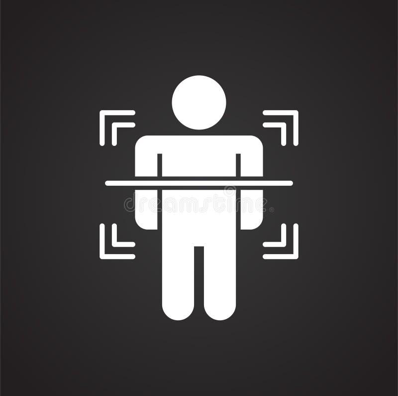在背景的身体扫描相关象图表和网络设计的 E E 皇族释放例证