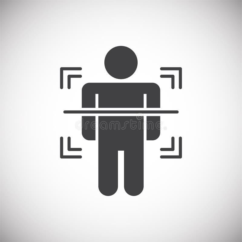 在背景的身体扫描相关象图表和网络设计的 E E 库存例证