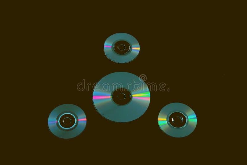 在背景的雷射唱片 图库摄影