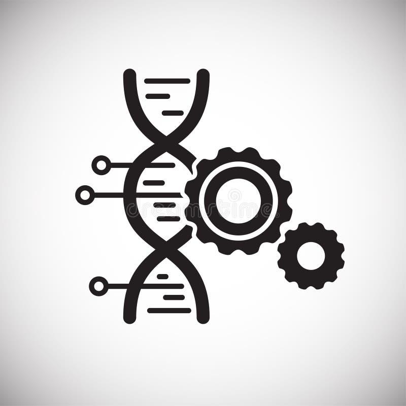 在背景的GMO象图表和网络设计的 简单的传染媒介标志 互联网网站按钮的概念标志或 库存例证