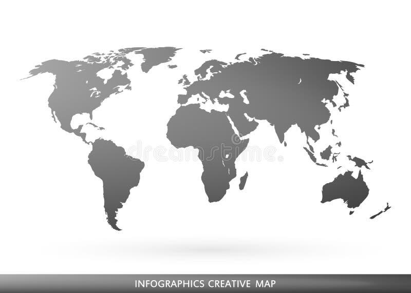 在背景网和流动应用的隔绝的世界的抽象创造性的概念传染媒介地图 向量 皇族释放例证