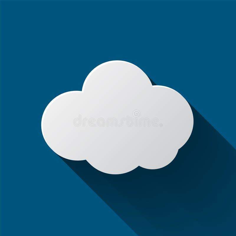 在背景隔绝的云彩象 云彩平的例证 皇族释放例证