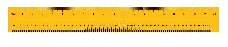 在背景隔绝的现实五颜六色的统治者的创造性的传染媒介例证 艺术设计测量的工具供应 皇族释放例证