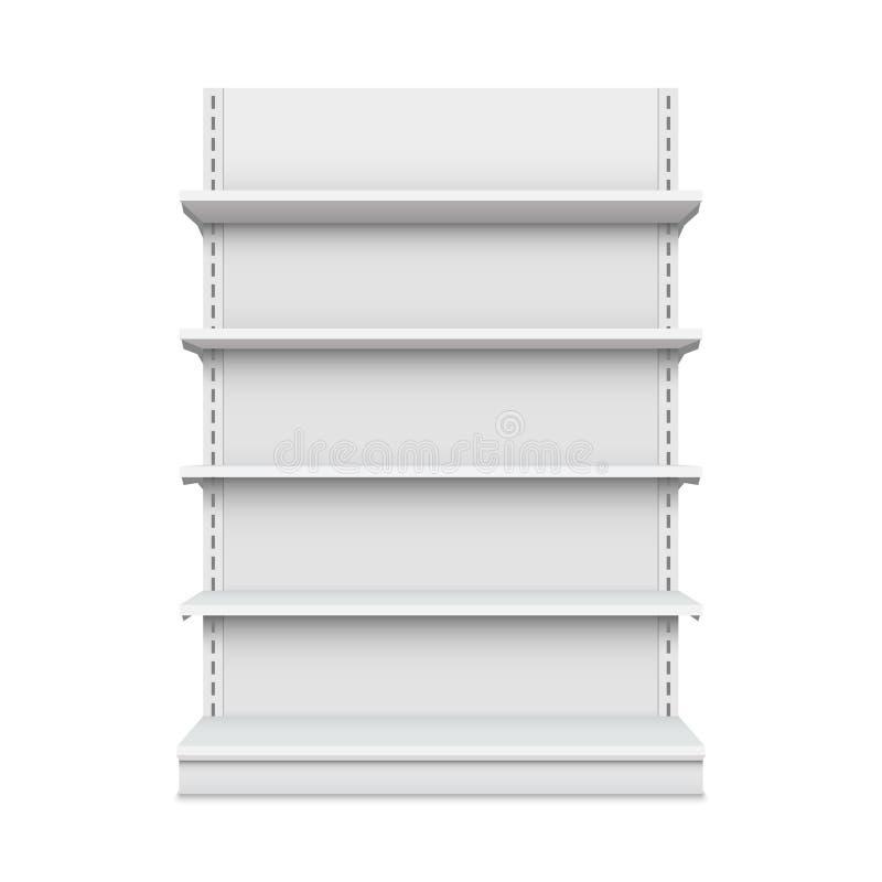 在背景隔绝的空的货架的创造性的传染媒介例证 零售架子艺术设计 抽象概念图表展示 库存例证
