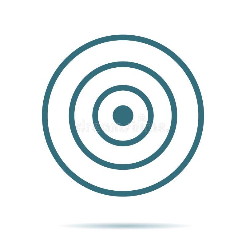 在背景隔绝的蓝色目标象 现代平的图表,事务,营销,互联网concep 向量例证