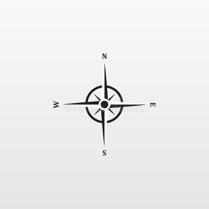在背景隔绝的Compas象 现代平的指南针图表,事务,营销,互联网骗局 库存例证