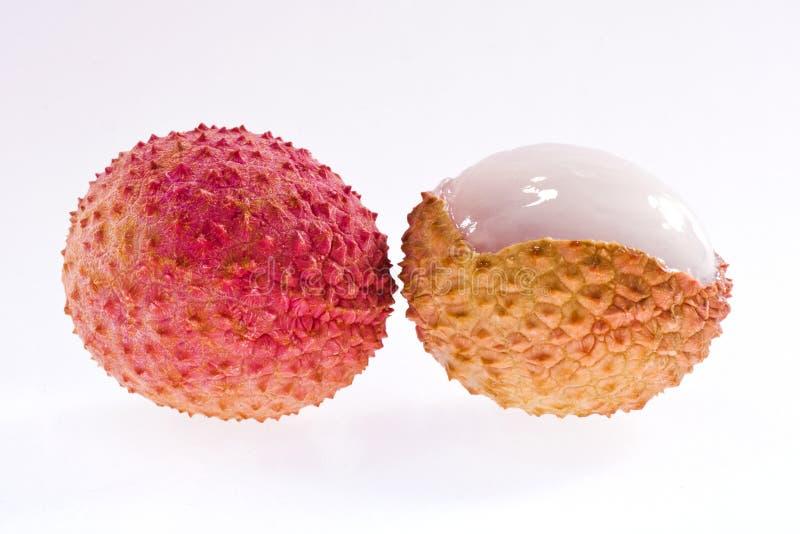 在背景隔绝的新鲜的lychee 库存图片