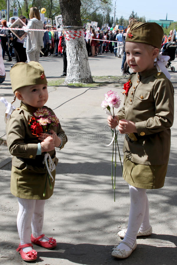 在胜利游行的行动不朽的军团 库存照片