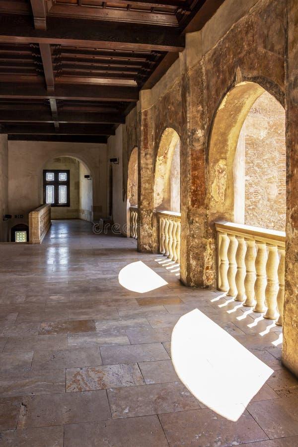 在胡内多阿拉,特兰西瓦尼亚,罗马尼亚的Corvin城堡 免版税库存图片