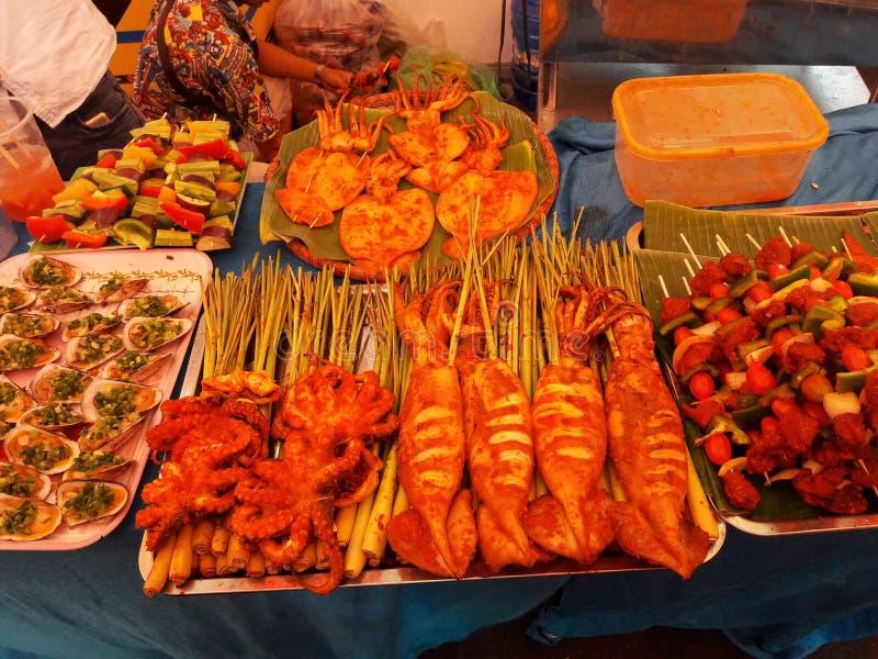 在胡志明的街道食物 库存照片