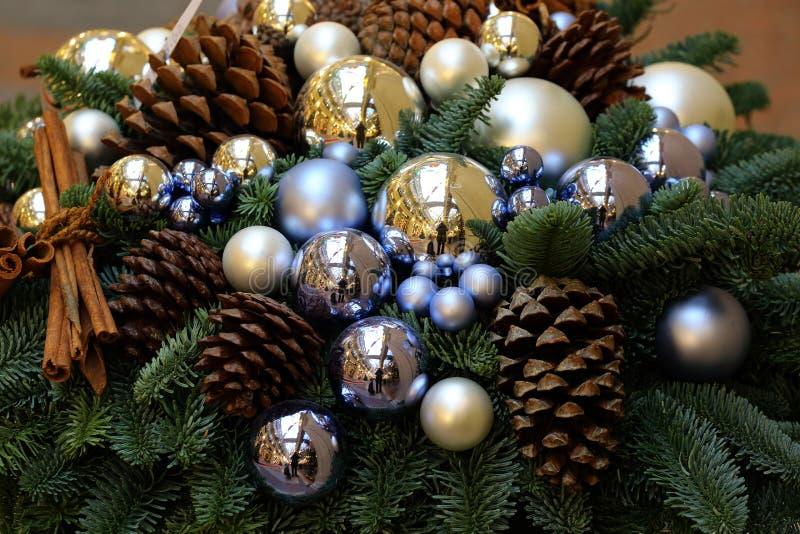 在胶,莫斯科的圣诞节装饰 免版税库存照片