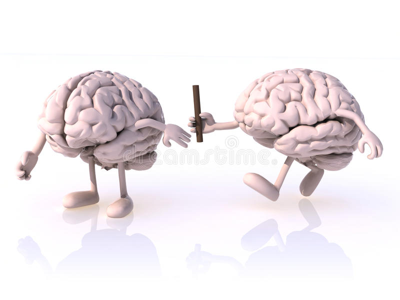 在脑子之间的中转 库存例证