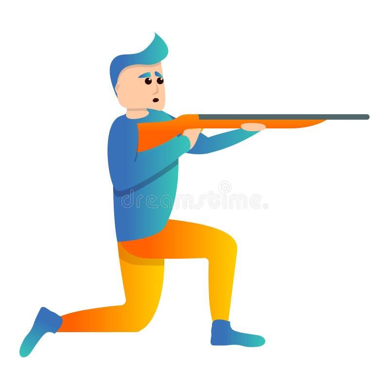 在膝盖体育射击象,动画片样式 向量例证