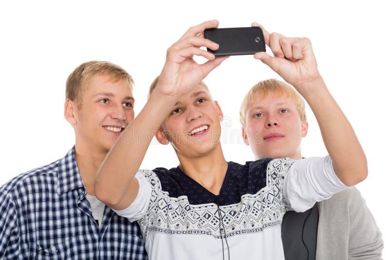 在自已的年轻逗人喜爱的人作为 免版税库存图片