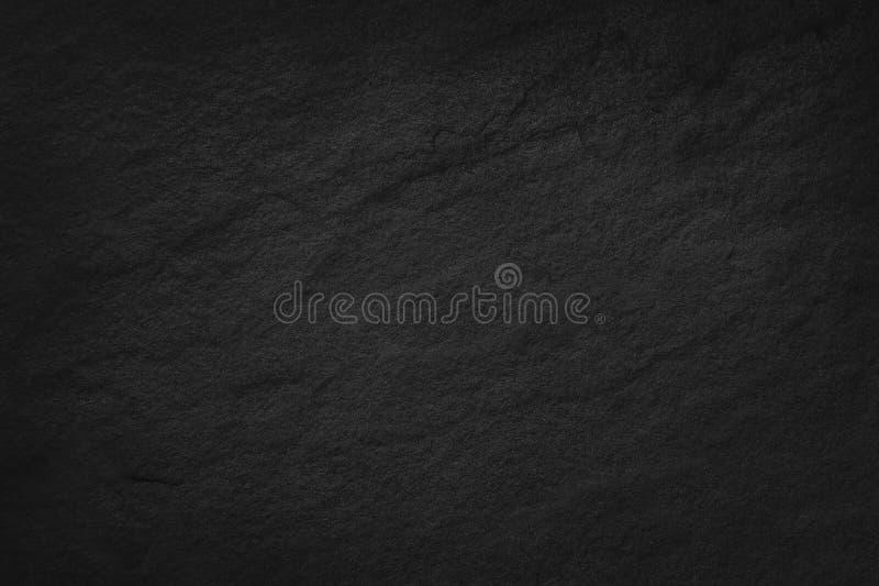 在自然样式的深灰黑板岩纹理 黑色石墙 免版税库存图片