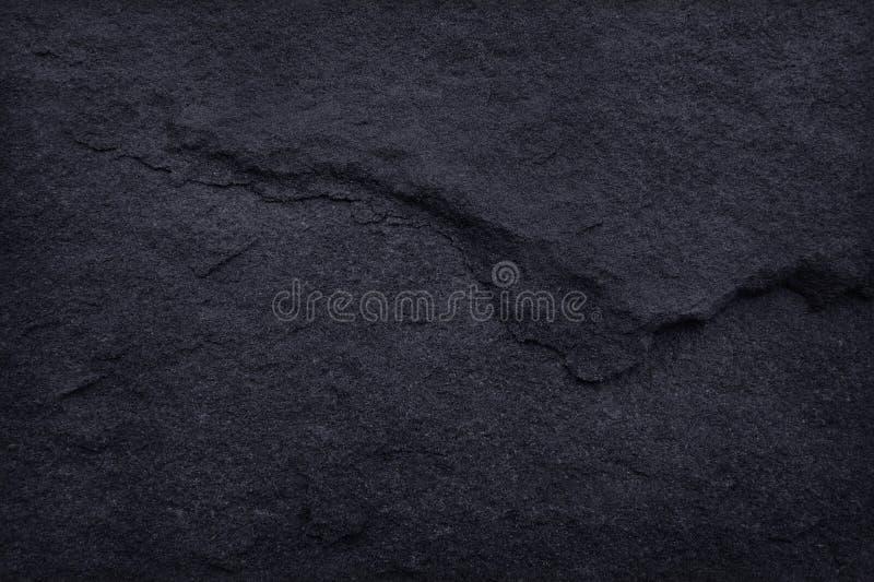 在自然样式的深灰黑板岩纹理 黑色石墙 免版税图库摄影