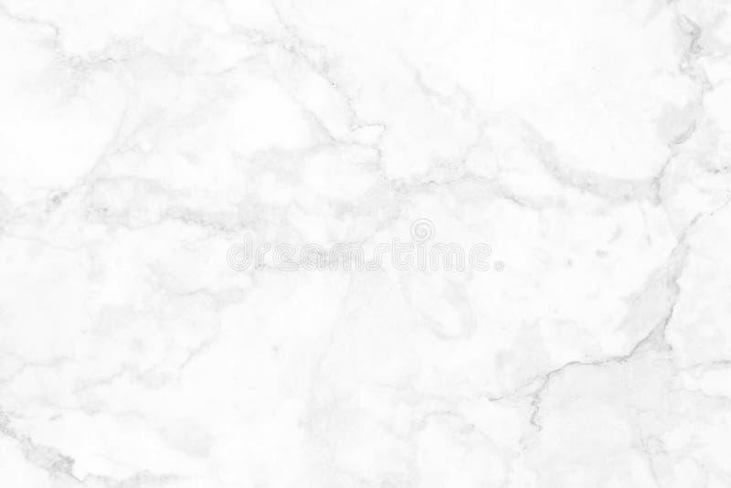 在自然样式,白色石地板的白色大理石纹理 免版税库存照片