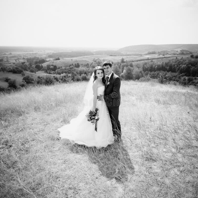 在自然的婚姻的步行 免版税库存图片